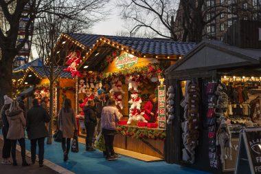 Rostock illustrasjonsbilde julemarked